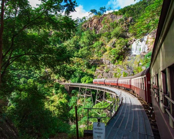 Stoney Creek Waterfall Kuranda Scenic Railway Cairns Queensland Australia