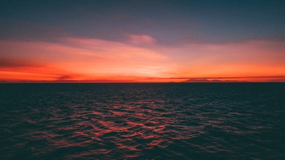 Sunset Great Barrier Reef Cairns Queensland Australia