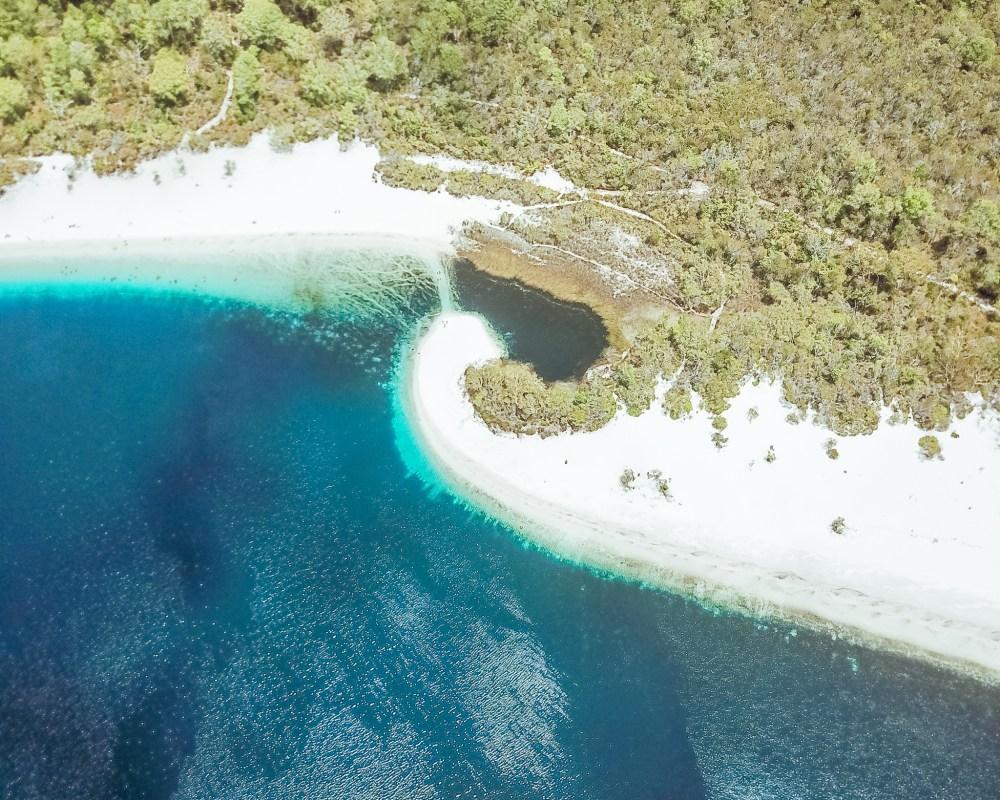 Lake McKenzie Drone Fraser Island Queensland Australia