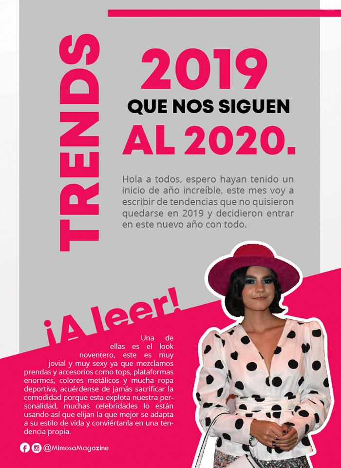 Trends 2019 que nos siguen al 2020 - Revista Mimosa
