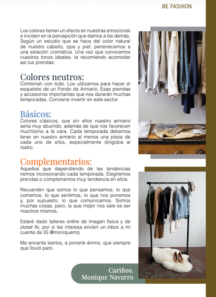 ¡Organiza tu ropa de forma efectiva! Revista Being