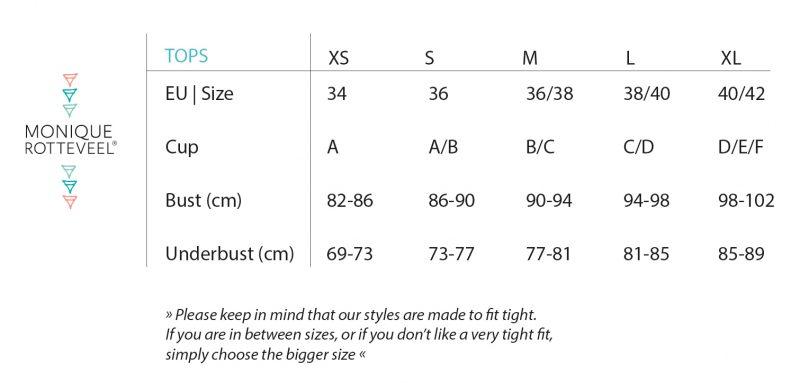Size Guide | Monique Rotteveel