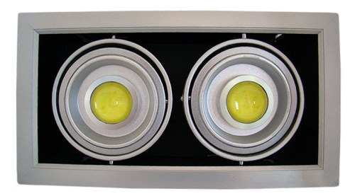 LED - comercial/office Spot Led reglabil DD 2x10w/6400k (montaj ingropat)  *TV 0,25ron