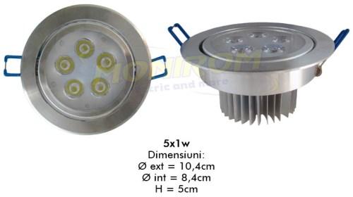 LED - Lichidare de stoc Spot Led   5x1w/6400k  *TV 0,25ron