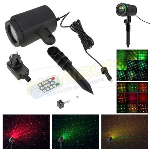 LED - iluminat festiv Proiector LASER pentru gradina WL-502C  IP44