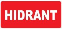 """Corp iluminat urgenta - EXIT Autocolant rosu """" HIDRANT """" (220mm x 80mm)"""
