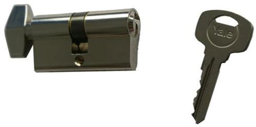 ASSA ABLOY / URBIS / FERONERIE Yale 500A K Cilindru siguranta 40×40 cu buton (crom)