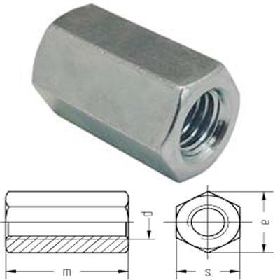 Jgheab metalic Piulita prelungire tija M 8x25x11 – 6334 Z
