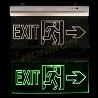 Corp iluminat urgenta - EXIT Klass 3114 – Lampa EXIT Led 3w (6×0,5w / 360x200x22mm) – sageata lateral