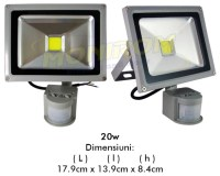 IN-OUT Proiector  LED cu SENZOR 20w  *TV 0,25ron