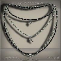 Men's Day 12a: Ivanhoe Mens Wht Necklace