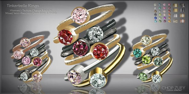 Women's Day 1: Tinkerbelle Texture Change Rings
