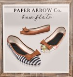 Paper Arrow http://maps.secondlife.com/secondlife/Lost%20Cove/95/121/1000 * Bow flats patterns, stripes, solids * Available for slink, maitreya * 150/ 450L per pattern