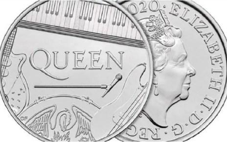 Queen en una moneda, homenajeada con una moneda, Reino Unido estren? una de 5 libras, Europa, agrupacion musical, legendaria agrupaci?n