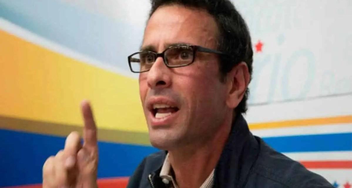 """Capriles sobre las parlamentarias: """"esta elección debe ser postergada por la situación país"""""""