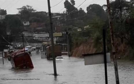 Las fuertes lluvias de la madrugada del martes afectaron a Caracas, Guarenas y Guatire
