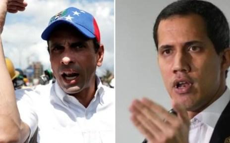 Capriles y Guaidó se reunirán en los próximos días para revisar las diferentes propuestas
