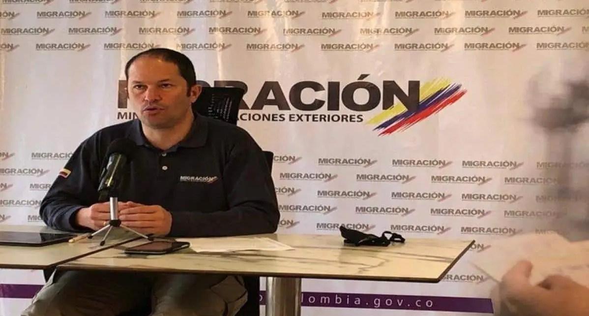 El director de Migración de Colombia, Juan Fernando Espinosa, informó sobre el trámite para migrantes venezolanos