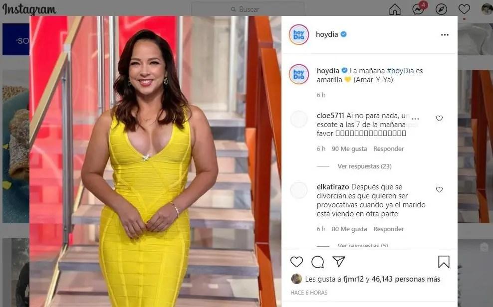 Adamari López y su impactante vestido amarillo que alborotó las redesv