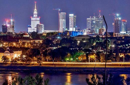 Panorama Warszawy. Foto: Bosyantek. Źródło: Wikimedia Commons