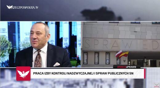 """Dariusz Czajkowski kadr z """"Rzecz o prawie"""", Rzeczpospolita TV, źródło: YouTube"""