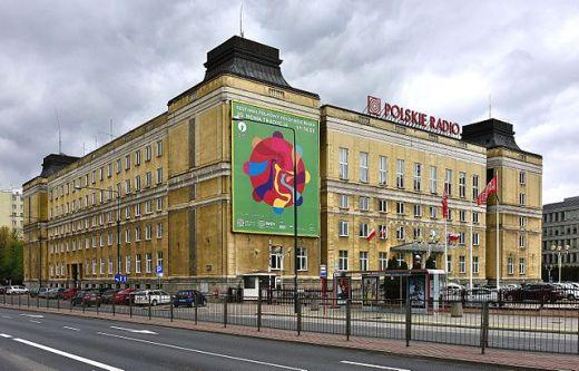 Polskie Radio al. Niepodległości Foto: Adrian Grycuk Źródło: Wikipedia.org
