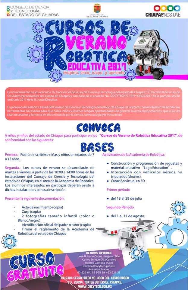 Robótica – Museo Cursos Monitorsur Impartirá De Chiapas wPkZiTOXul