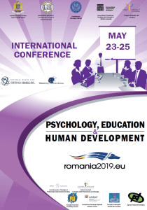 Conferința Internațională Psychology, Education and Human Development - afis