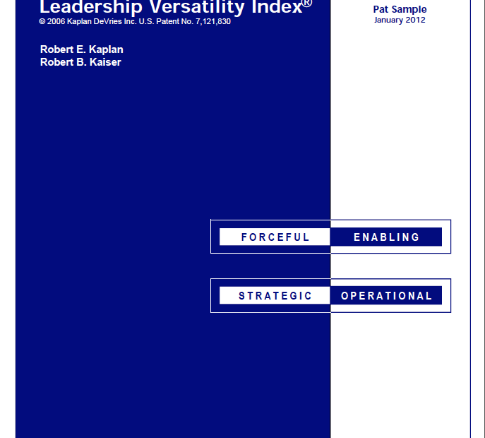Leadership Versatility Index