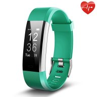 Fitness Tracker, Juboury Slim Heart Rate Smart Bracelet Wearable Pedometer Touch Screen Activity Tracker Fitness Watch for Android and IOS Smart Phones (Teal)