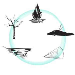 i cinque elementi nel flusso (Immagine di Dania Puggioni)