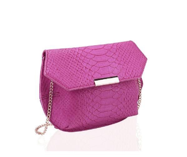sac bandoulière pochette rose imprime croco