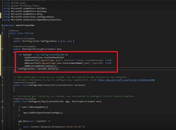 add appsetting.json in asp.net core mvc