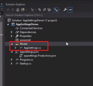 create appsetting.json in asp.net core mvc