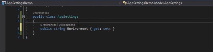 create appsetting.cs class in asp.net core