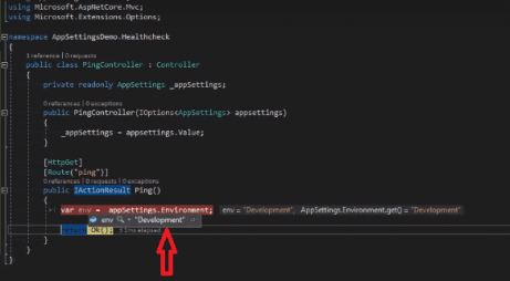 read appsetting properties in asp.net core