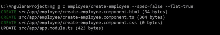 generate the component using the angular CLI command.