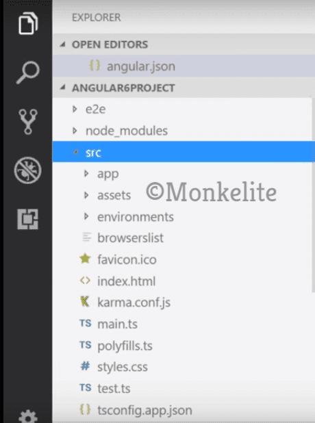 folder structure in angular