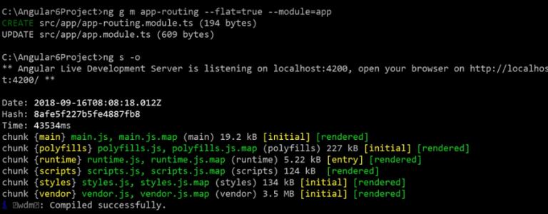run angular project using angular 6 cli