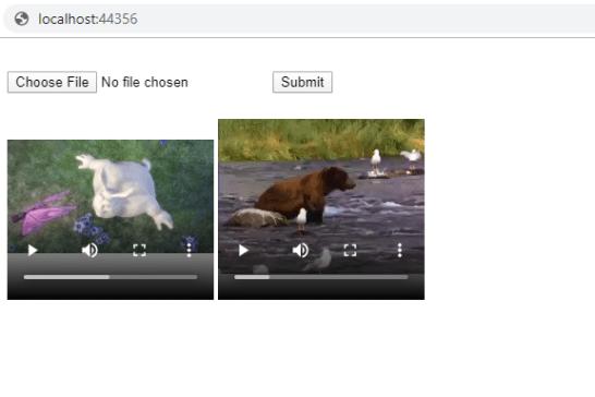 Angular project upload  video