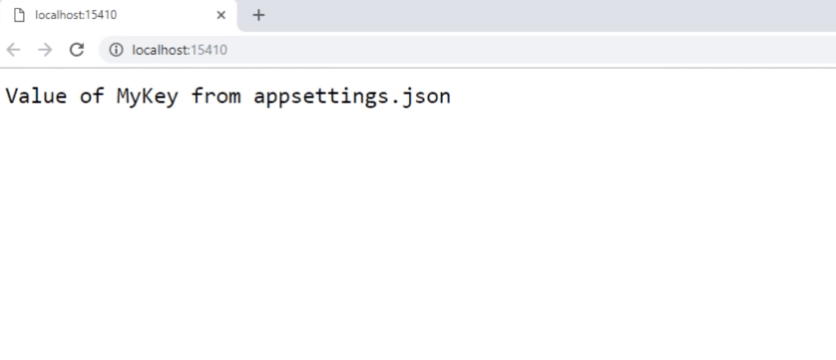 appsettings.json output