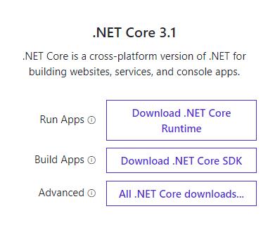 .NET Core SDK download