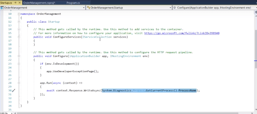 startup.cs file in asp.net core