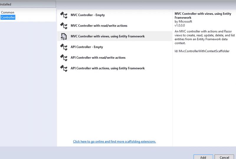 ap.net mvc controller template