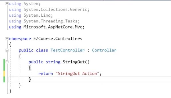 return String controller in asp.net mvc