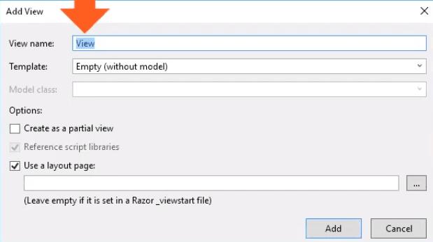 asp.net core mvc razor view