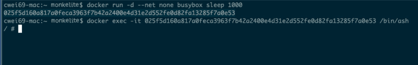 docker busybox login
