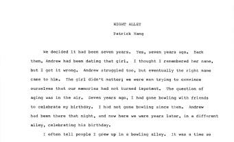 NIGHT ALLEY -1-