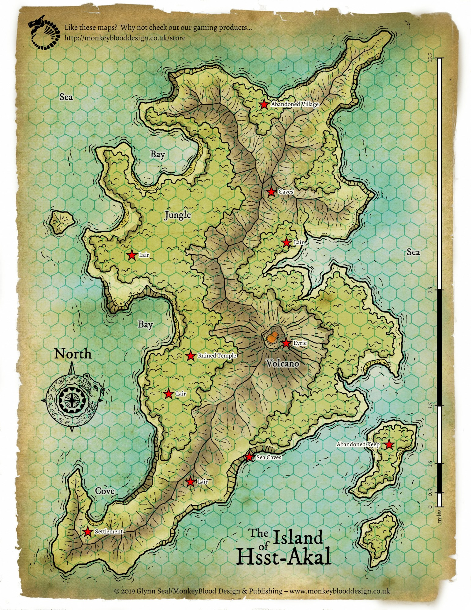 Island of Hsst Akal Map 1 - Full