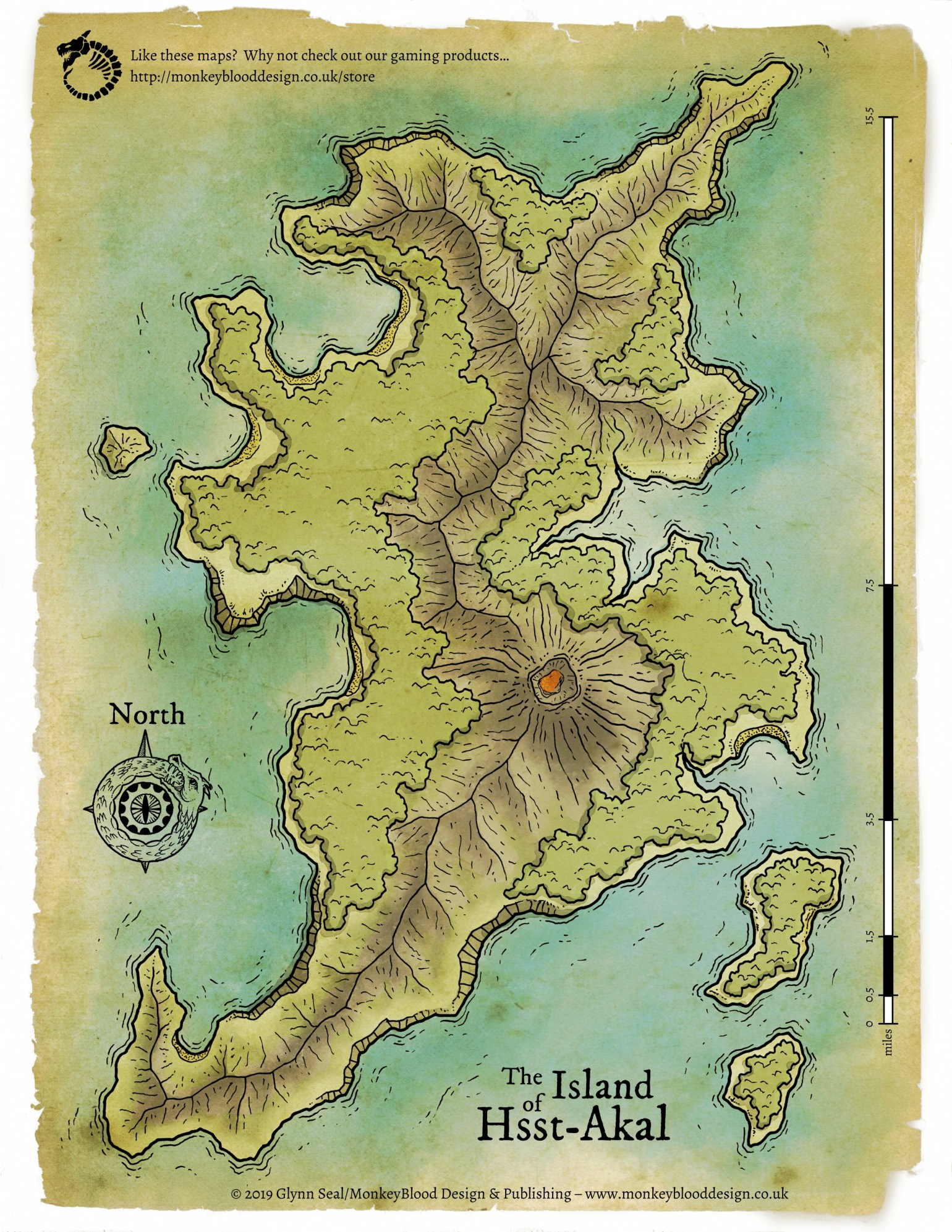 Island of Hsst Akal Map 2 - VTT